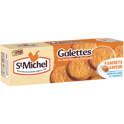 Galettes au bon beurre français ST MICHEL, paquet de 130g