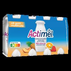 Yaourt à boire multifruits ACTIMEL, 8x100g