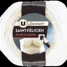 Saint Félicien au lait thermisé U SAVEURS, 27% de MG, boîte de 180g