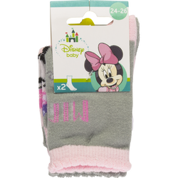 MI-CHAUSSETTES LAYETTE FILLE FANTAISIES LICENCE DISNEY MINNIE   X2