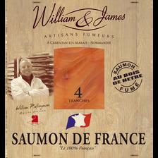 Saumon fumé de France GOURMANDIE, 4 tranches soit 100g