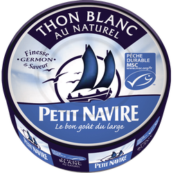 Thon blanc naturel PETIT NAVIRE, 112g