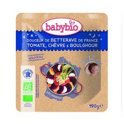DOUCEUR DE BETTERAVE TOMATE CHEVRE BOULGHOUR BABYBIO dès 12 mois 190g