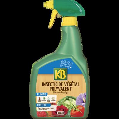 Insecticide végétal KB, 800ml, prêt à l'emploi, élimine pucerons, mouches cochenilles et acariens