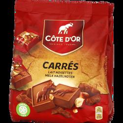 Chocolat au lait et noisettes COTE D'OR, 10 carrés de 20g
