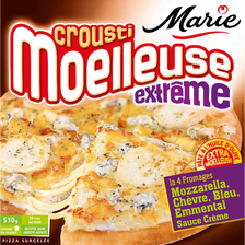 Pizza crousti moelleuse extrême 4 fromages, MARIE, 510g