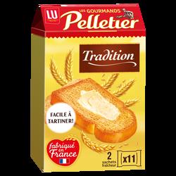 Biscottes La Gourmande PELLETIER, 22 tranches, 285g