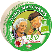 Bons Mayennais Camembert Bio Lait Pasteurisé 26% De Mg Bons Mayennais, 250g