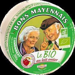Camembert bio lait pasteurisé BONS MAYENNAIS, 26%mg, 250g