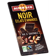 Alter Eco Chocolat Noir Bio Aux Amandes Alter Eco, Tablette De 100g