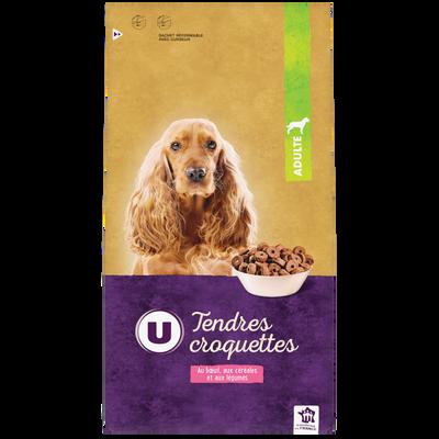 Tendres croquettes pour chien au boeuf, aux céréales et aux légumes U,4kg