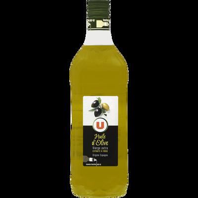 Huile d'olive vierge extra U, bouteille de  1 litre