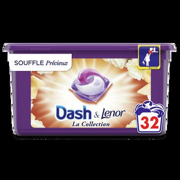 Dash Lessive Pods 2 En 1 Souffle Précieux Dash X32 Doses (803.2g)