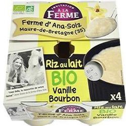 Riz au lait à la vanille, LA FERME D'ANA SOIZ, 4x125g