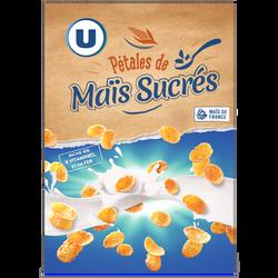 Pétales de maïs glacés au sucre U paquet 375g