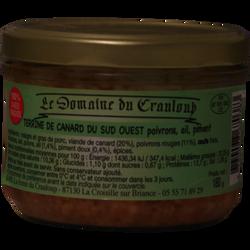 Terrine de canard du Sud ouest poivrons,ail, piment LE DOMAINE DU CRAULOUP, 180g