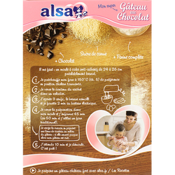 Gâteau au chocolat saveur d'antan ALSA, 300g
