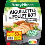 Fleury Michon Aiguillettes De Poulet Grillé Fleury Michon, 2x2x75g Soit 300g, Le 2ème À -50%