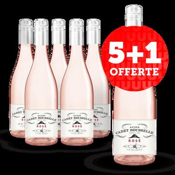Vin De France Vin De France Cadet Rousselle Rosé - 5 Bouteilles + 1 Offerte