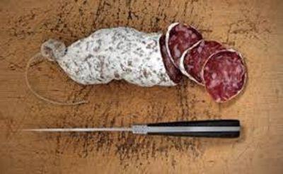Saucisson sec pur porc au fromage de chèvre 200g