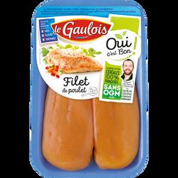 Filet poulet jaune, OCB LE GAULOIS, France, 2 pièces, barquette 300g