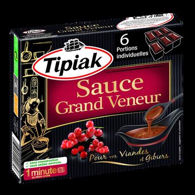 Sauce Grand Veneur TIPIAK, 6 portions individuelles de 50g soit 300g