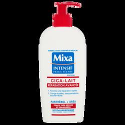 Lait cica réparation avancée peaux très sèches et fragilisées MIXA, pompe de 250ml