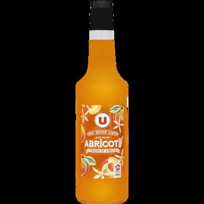 Sirop d'abricot touche de vanille édition limitée U, bouteille de 70cl