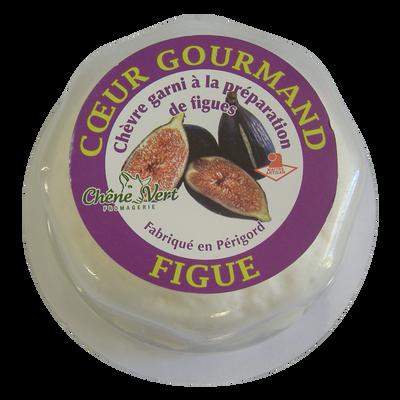 COEUR GOURMAND figue au lait de chèvre pasteurisé, 12% de MG, boite de80g