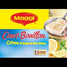 Court bouillon au citron et fines herbes MAGGI, 8 tablettes, 90g, 8l