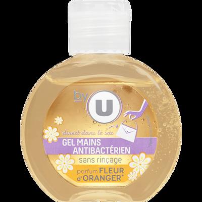 Gel pour les mains sans rinçage parfum fleur d'oranger BY U, flacon de60ml