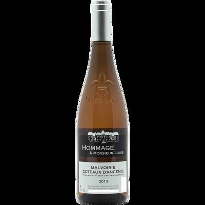 Vin blanc AOC Coteaux d'Ancenis Malvoisie Hommage à Mr Louis, bouteille de 75cl