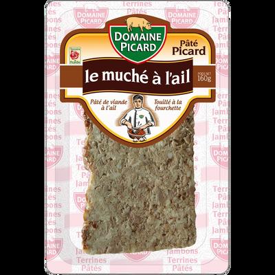 Muche à l'ail pâté, barquette de 160g