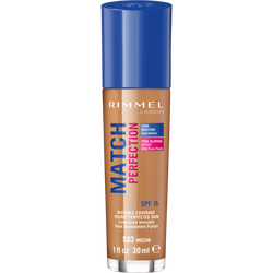 Fond de teint match perfection 503 mocha RIMMEL, nu, 30ml