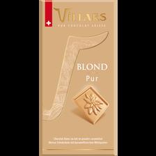 Tablette de chocolat blond pur VILLARS, 100g