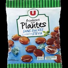 Bonbons aux plantes et à l'extrait de stevia sans sucre U, sachet de 120g