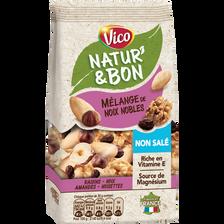 Vico Natur'& Bon Mélange Noix Nobles Non Salées, , 200g