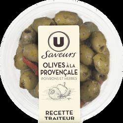 Olives à la provençale avec poivrons et herbes aromatiques Saveurs U,150g