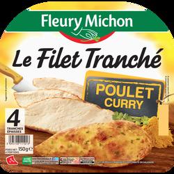 Filet tranché de poulet curry FLEURY MICHON 4 tranches 150g