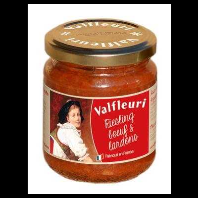 Sauce riesling boeuf lardons VALFLEURI, paquet de 190g