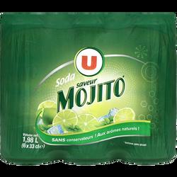 Soda saveur mojito U, 6 canettes de 33cl