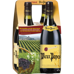Vin Communauté Européenne rouge VIEUX PAPES , 4x75cl