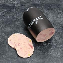 Saucisse de viande au jambon pistachée,