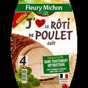 Fleury Michon Rôti De Poulet, J'aime Fleury Michon, 4 Tranches De 140g