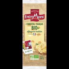 Fromage à pâte pressée cuite Emmental français BIO ENTREMONT, 31% de MG, 180g