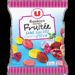Bonbons fruits stévia sans sucre U, 120g