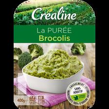 Purée de brocolis, CREALINE, barquette 2 x 200g