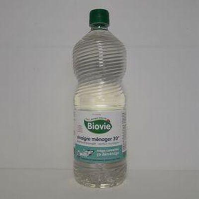 Vinaigre ménager 20° senteur eucalyptus BIOVIE bouteille 1L