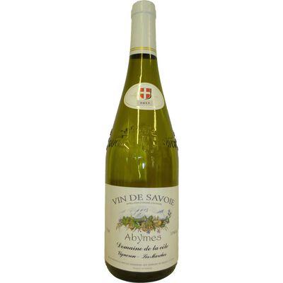 Vin blanc de Savoie Abymes AOP, bouteille de 75cl