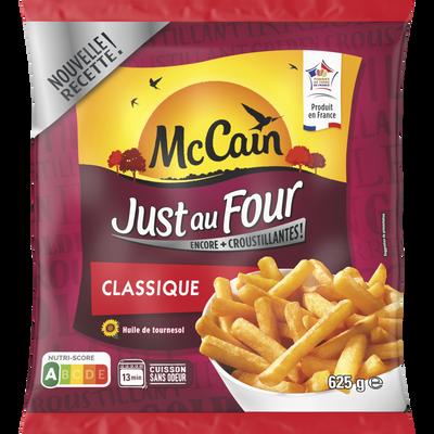 Frites Just au four coupe classique MC CAIN, 625g
